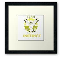 TEAM Instinct! PKMNGO Framed Print