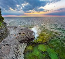 Cave Point Daybreak by Kenneth Keifer