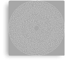 Round Maze - White Canvas Print
