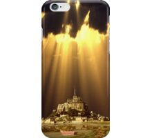 Le Monte St. Michel Island fully revealed at low tide iPhone Case/Skin