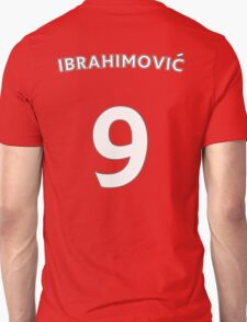 Zlatan Ibrahimovic Man Utd number and name t-shirt Unisex T-Shirt