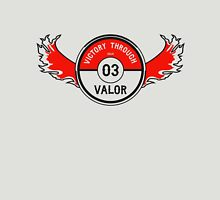 Victory through Valor (Valor Red) Unisex T-Shirt