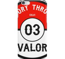 Victory through Valor (Valor Red) iPhone Case/Skin