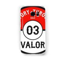 Victory through Valor (Valor Red) Samsung Galaxy Case/Skin