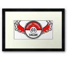 Victory through Valor (Valor Red) Framed Print