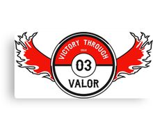 Victory through Valor (Valor Red) Canvas Print