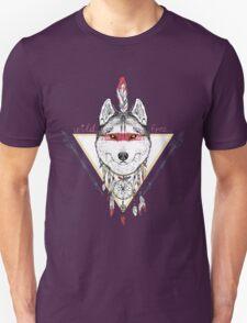 wolf indian warrior Unisex T-Shirt