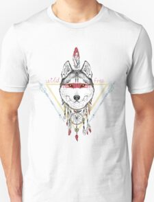 wolf indian warrior T-Shirt