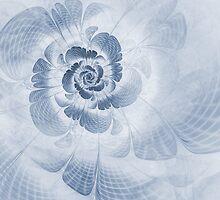Floral Impression Cyanotype by John Edwards