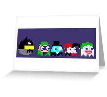 BatPacman & Villains Greeting Card