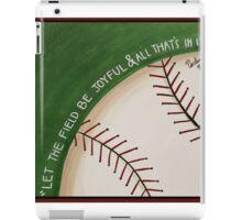 Let the Field Be Joyful iPad Case/Skin