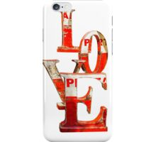 LOVE Happy Valentines day card iPhone Case/Skin