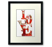 LOVE Happy Valentines day card Framed Print