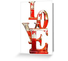 LOVE Happy Valentines day card Greeting Card