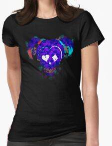 Harley Quinn Cards Fade (Suicide Squad) Womens Fitted T-Shirt