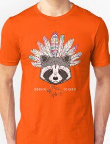 raccoon aztec style Unisex T-Shirt