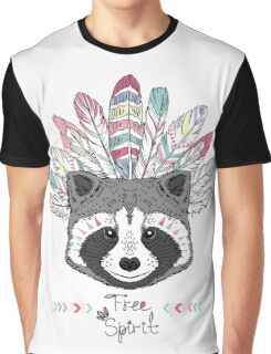raccoon aztec style Graphic T-Shirt