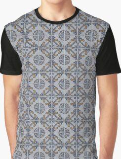 Portuguese tile print Graphic T-Shirt