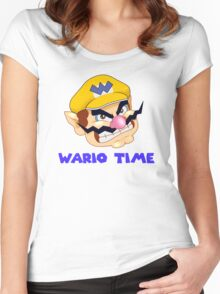 Wario Time! Women's Fitted Scoop T-Shirt