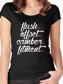 flush offset camber fitment (1) Women's Fitted Scoop T-Shirt