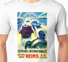 """""""REIMS"""" Grand Prix Vintage Auto Race Print Unisex T-Shirt"""