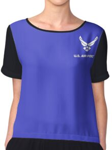 Air Force Logo Chiffon Top