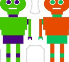 Colourful Robots Sticker