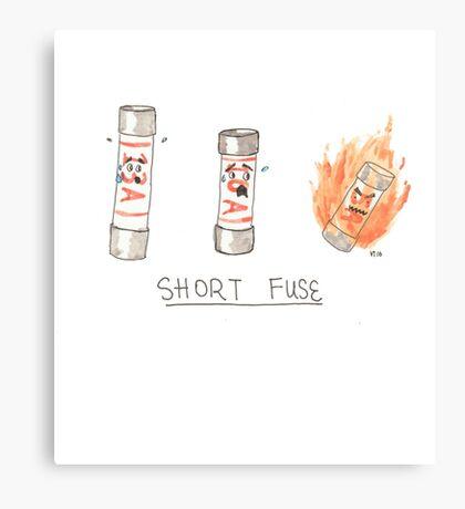 Short Fuse Canvas Print