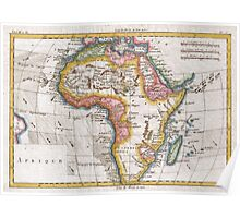Vintage Map of Africa (1780) Poster