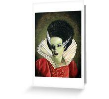 Renaissance Victorian Portrait - Bride of Frankenstein Greeting Card