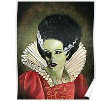 Renaissance Victorian Portrait - Bride of Frankenstein Poster