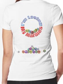 LOST MARBLES !! ooO * Women's Fitted V-Neck T-Shirt
