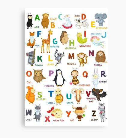 English ABC Canvas Print