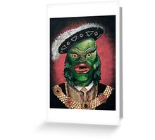 Renaissance Victorian Portrait - Creature from the Black Lagoon Greeting Card