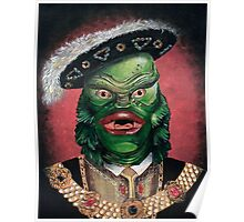Renaissance Victorian Portrait - Creature from the Black Lagoon Poster