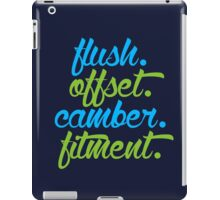 flush offset camber fitment (4) iPad Case/Skin