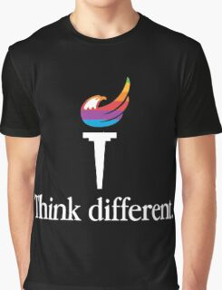Libertarian Torch - Think Different Graphic T-Shirt