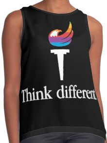 Libertarian Torch - Think Different Contrast Tank