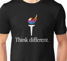 Libertarian Torch - Think Different Unisex T-Shirt