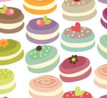 Cute French Macarons Sticker