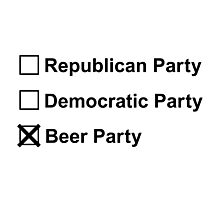 VOTE BEER PARTY 2016 Photographic Print