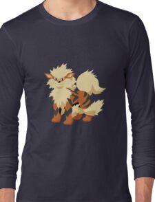 Arcanine Pokemon Simple No Borders Long Sleeve T-Shirt