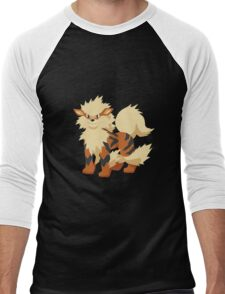 Arcanine Pokemon Simple No Borders Men's Baseball ¾ T-Shirt