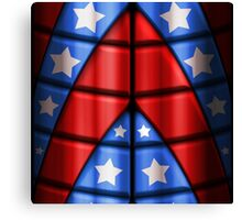 Superheroes - Red, Blue, White Stars Canvas Print
