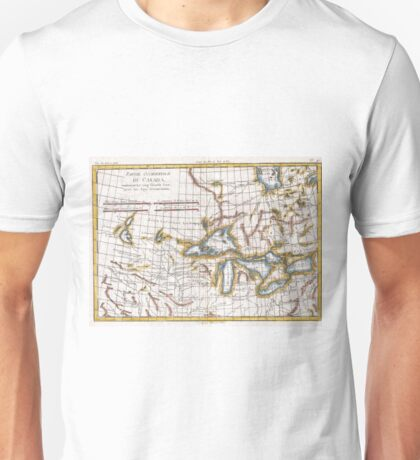 Vintage Map of The Great Lakes & Canada (1780) Unisex T-Shirt