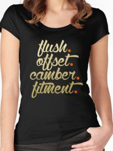 flush offset camber fitment (6) Women's Fitted Scoop T-Shirt