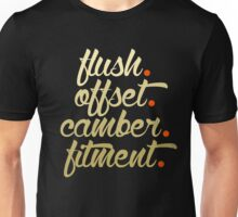 flush offset camber fitment (6) Unisex T-Shirt