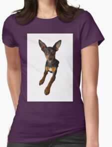 Conchita - a small doberman pincher like species of dog Womens Fitted T-Shirt