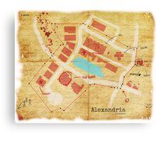 Alexandria Scout Report Map Canvas Print