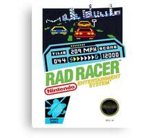 Rad Racer 8-Bit Cover  Canvas Print